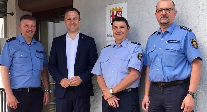 Besuch bei der Polizei Inspektion in Bitburg