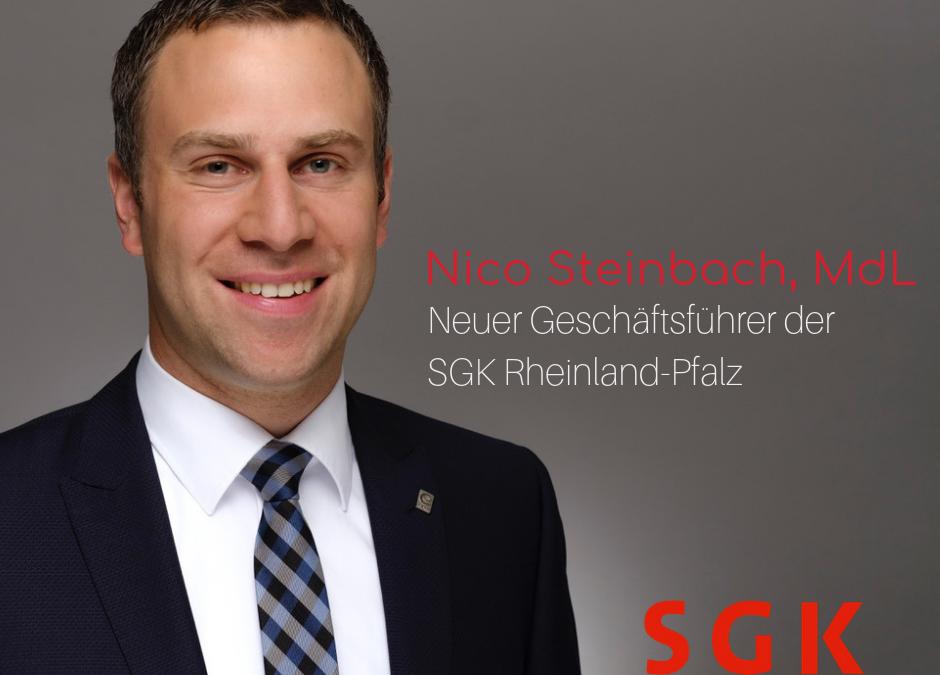 Personalwechsel im SGK-Landesverband Rheinland-Pfalz:  Nico Steinbach neuer Geschäftsführer