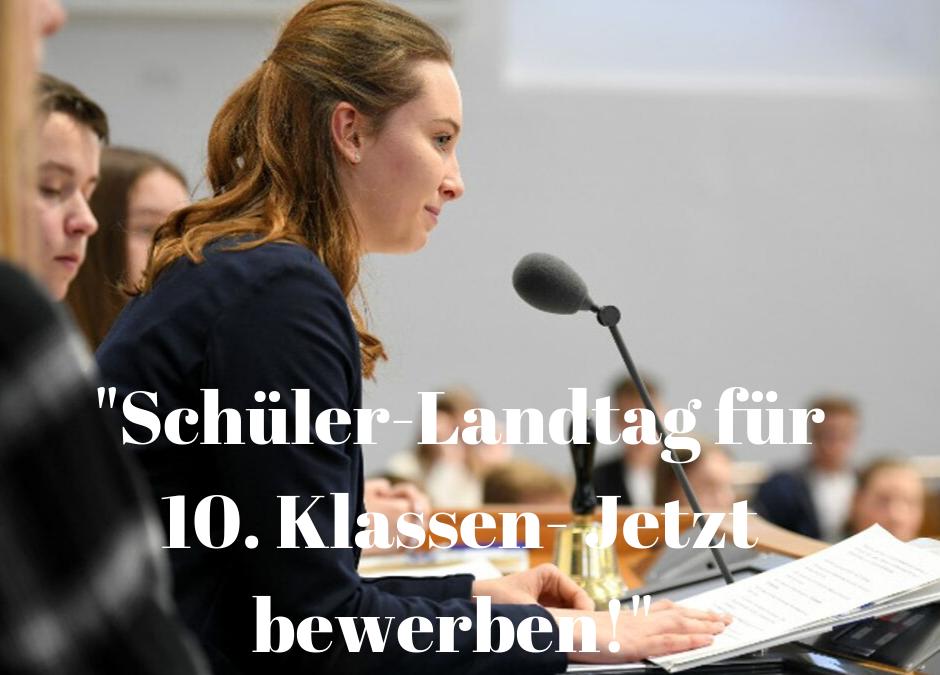 5. Schüler-Landtag – Politik erleben und mitgestalten