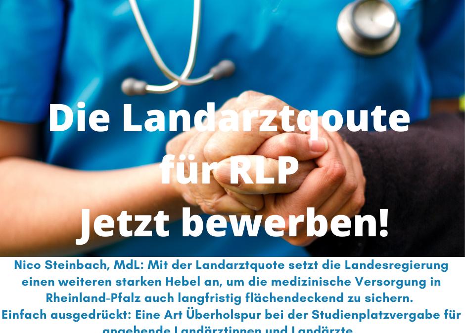 Die Landarztqoute für Rheinland-Pfalz