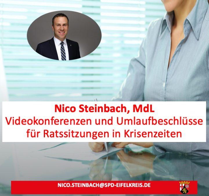 Neue Regelung: Ratssitzungen und Beschlüsse in Krisenzeiten auch per Videokonferenz oder Umlaufbeschluss möglich