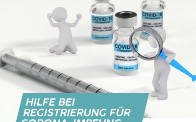Abgeordneter Nico Steinbach (SPD) hilft bei der Online-Terminregistrierung für die Corona-Impfung
