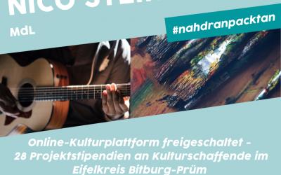 Kulturschaffende aus dem Eifelkreis präsentieren sich auf Online-Plattform – 28 Projektstipendien an Kulturschaffende im Kreis vergeben