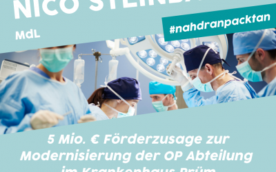 5 Mio. Euro an Landesförderung für das Krankenhaus in Prüm!