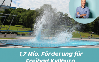 1,7 Millionen € Förderung für das Freibad Kyllburg