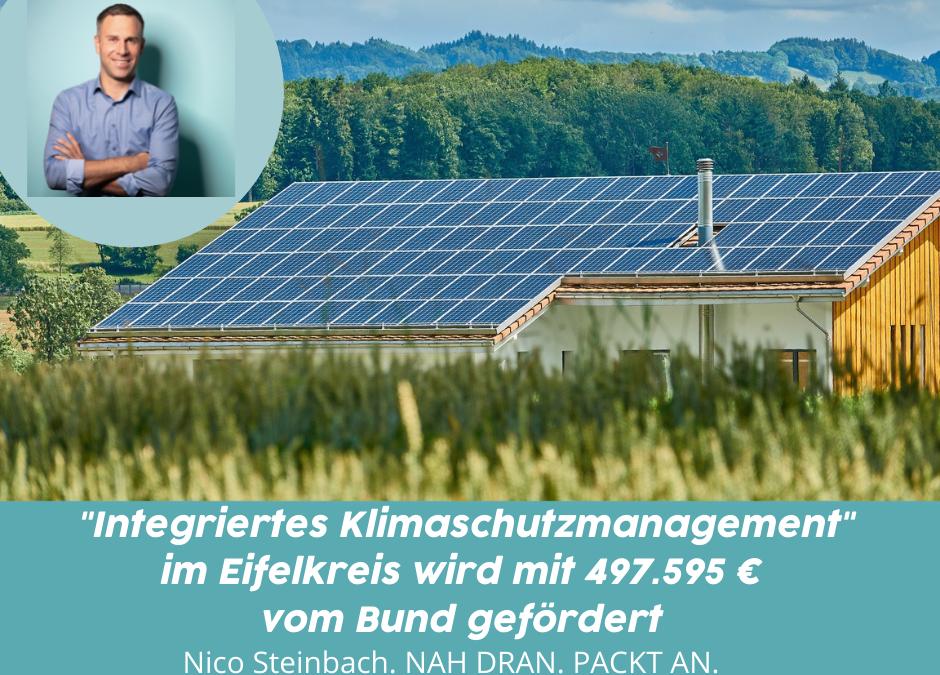 Integriertes Klimaschutzmanagement im Eifelkreis – 497.595,– € Förderung