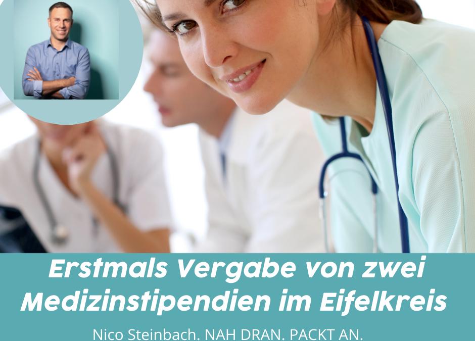 Erstmals Vergabe zweier Medizinstipendien durch den Eifelkreis