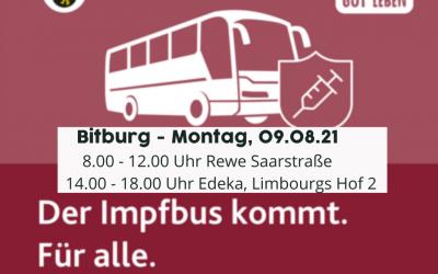 Impfbus am 09. August in Bitburg